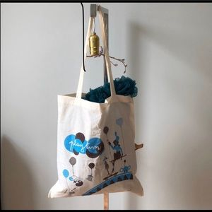 Lot of 4 reusable cotton tote bags